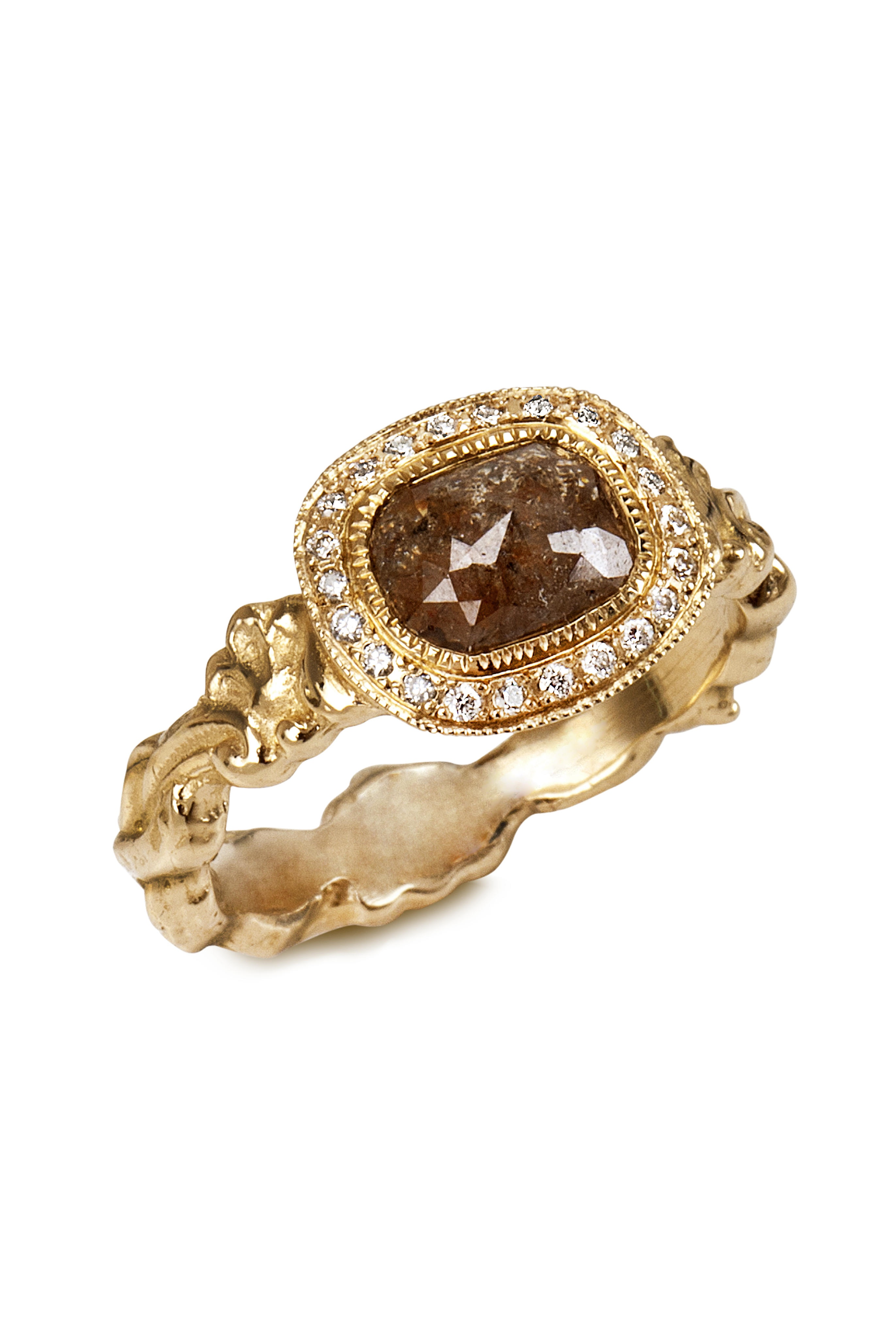 The Jewel - Just Jules - Lookbook - Brown Gold Ring