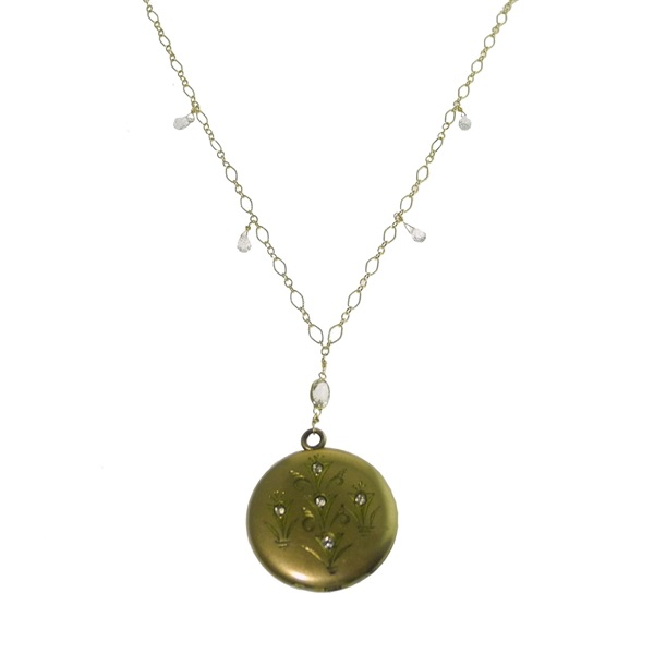 The Jewel - Just Jules - Lookbook - Gold and Diamond Drop Necklace