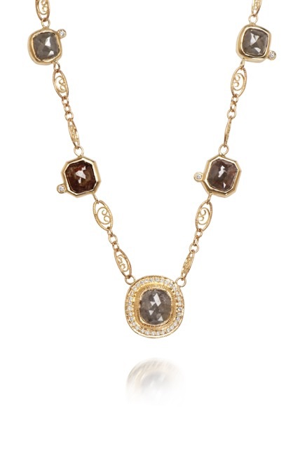 The Jewel - Just Jules - Lookbook - Gray Brown Gold Necklace