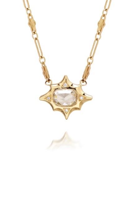The Jewel - Just Jules - Lookbook - Gold and Diamond Stud Necklace