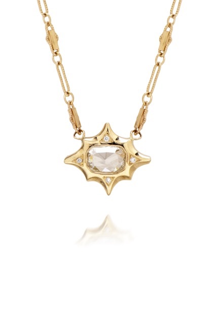 The Jewel - Just Jules - Lookbook - Gold and Diamond Stud Necklace