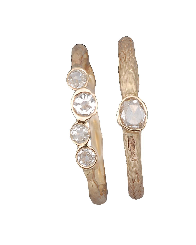 The Jewel - Just Jules - Lookbook - Gold Diamond Stud Rings