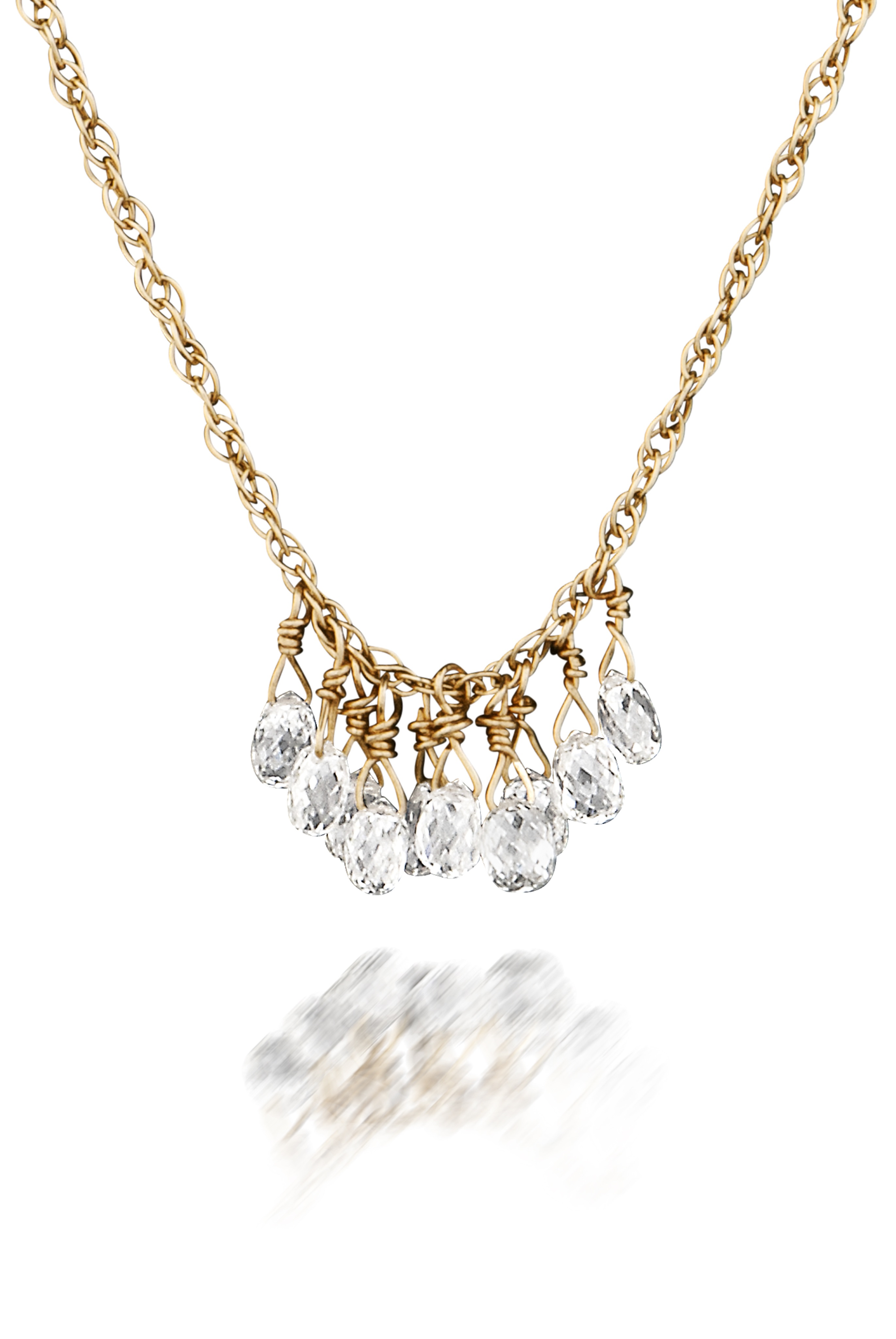 The Jewel - Just Jules - Lookbook - Gold Diamond Drop Necklace