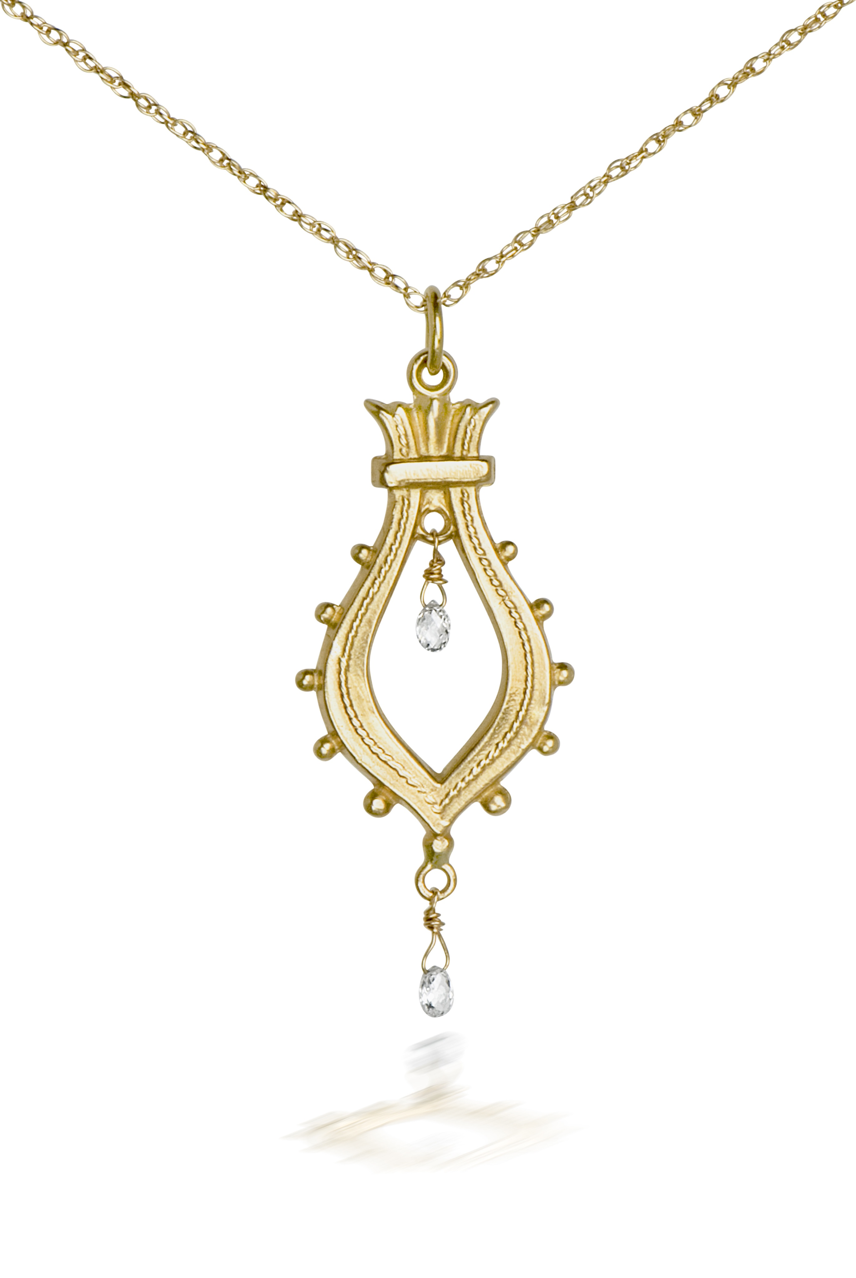The Jewel - Just Jules - Lookbook - Gold Drop Necklace