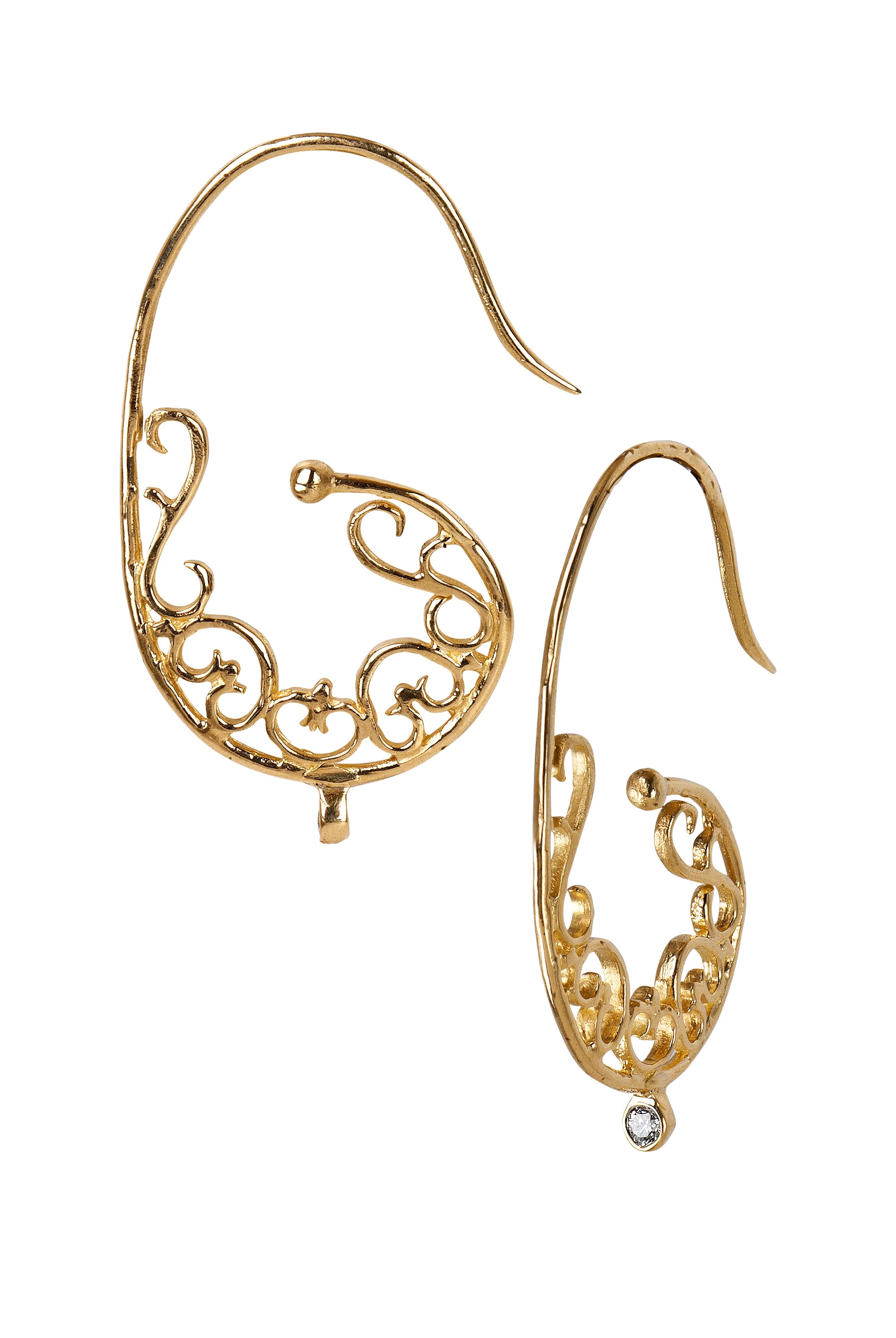 The Jewel - Just Jules - Lookbook - Gold Detail Earrings
