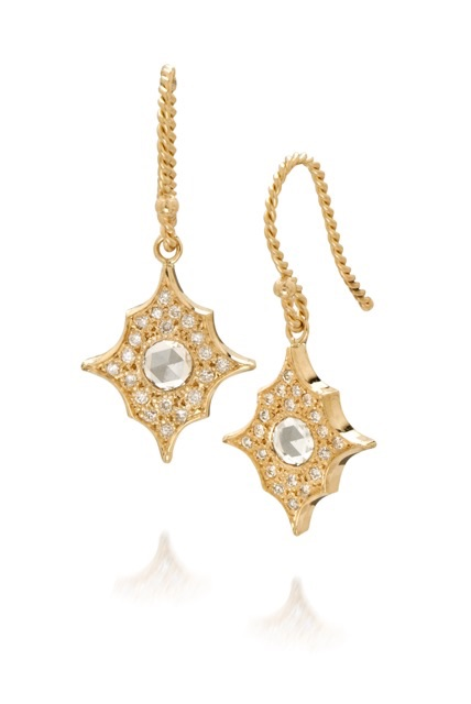 The Jewel - Just Jules - Lookbook - Gold Diamond Drop Earring