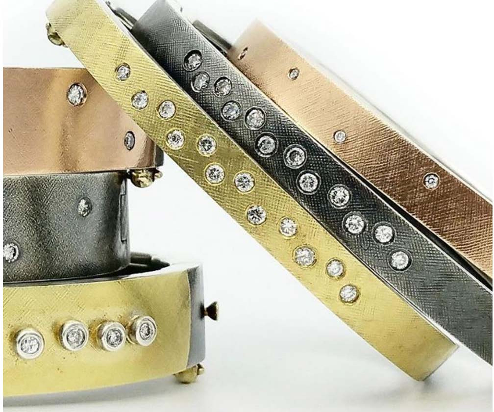 The Jewel - Rene Escobar - Lookbook - Gold, Silver and Bronze Layering Bracelets