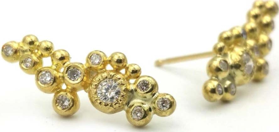 The Jewel - Rene Escobar - Lookbook - Gold and Diamond Stud Earrings
