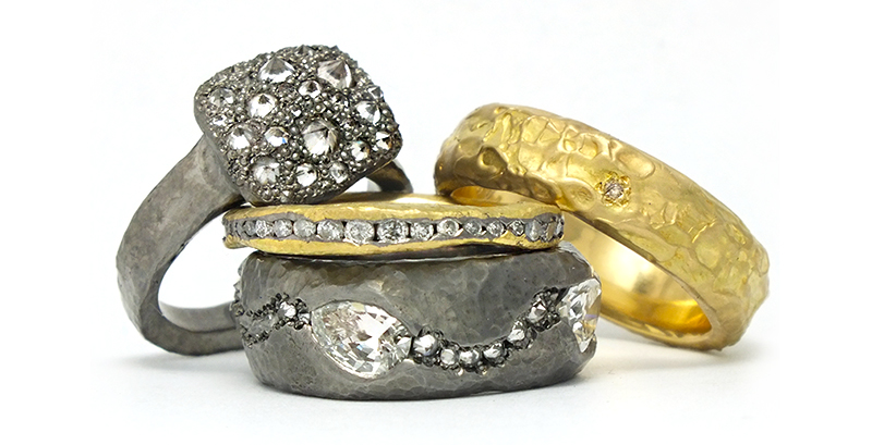 The Jewel - Todd Pownell Tap - Lookbook - Silver and Gold Rings