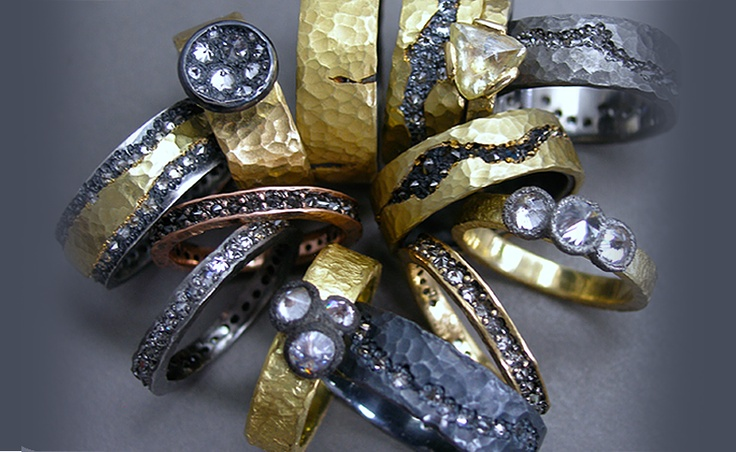 The Jewel - Todd Pownell Tap - Lookbook -Bronze, Gold and Silver Rings