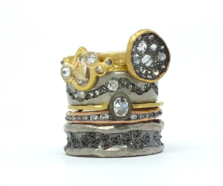 The Jewel - Todd Pownell Tap - Lookbook - Gold, Silver, Bronze and Diamond Rings