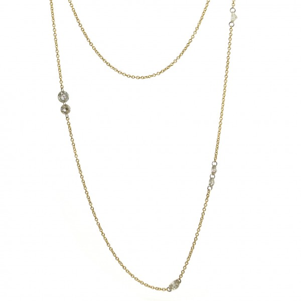 The Jewel - Todd Pownell Tap - Lookbook - Gold and Diamond Long Neclace