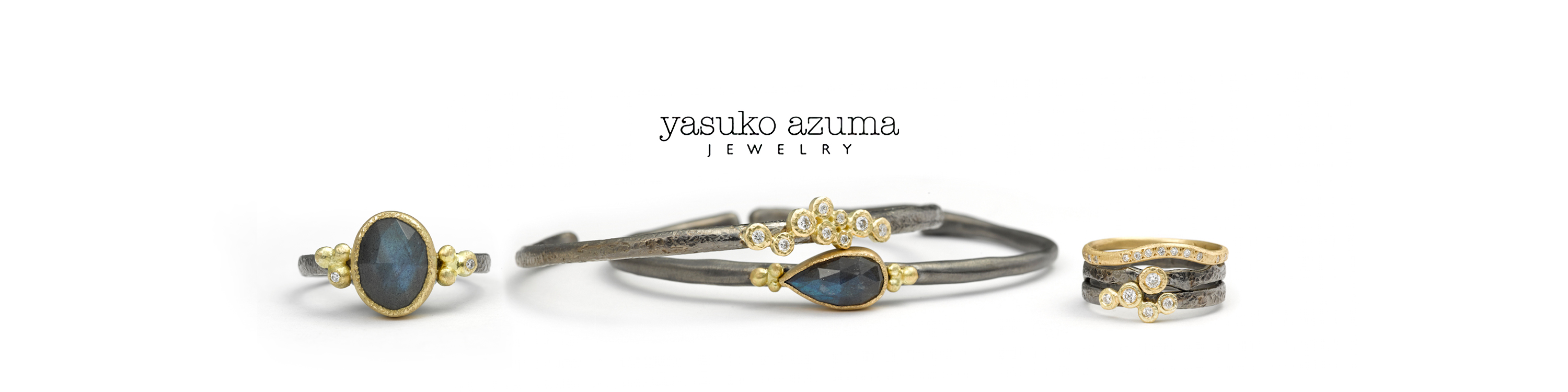The Jewel - Yasuko Azuma - Lookbook - Gold Gray and Dark Blue