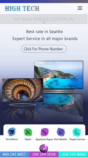 Appliance Website Designing Seattle Washington