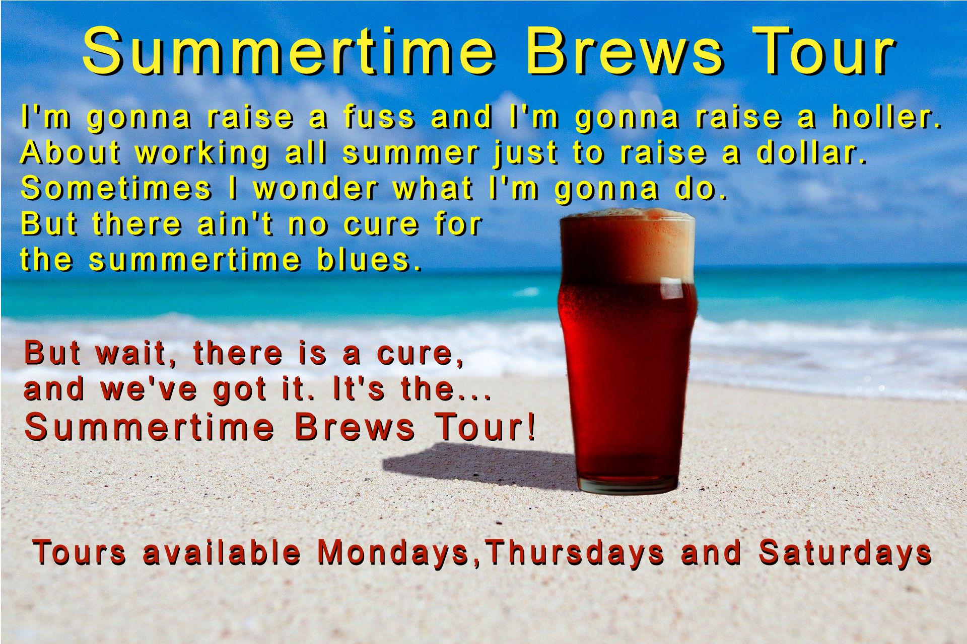 Summertime Brews Tour. Springs Beer Tours.