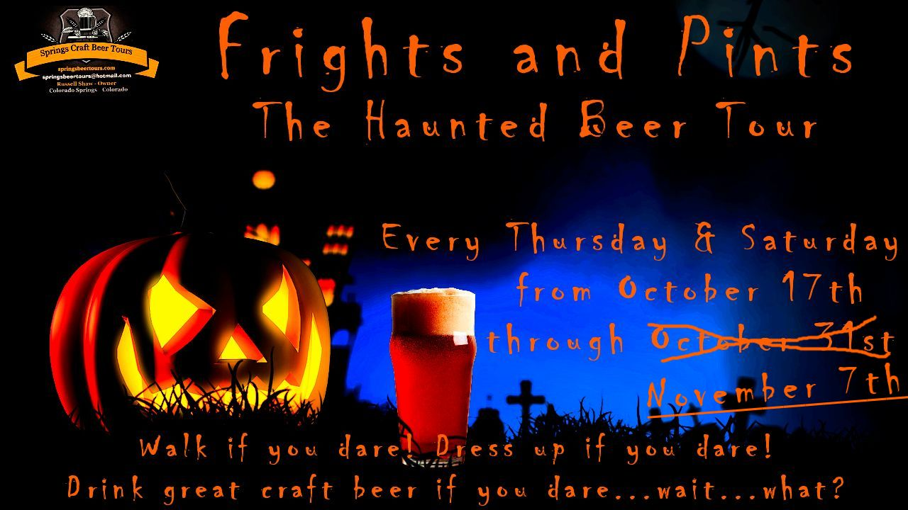 Springs Beer Tours. Frights & Pints - The Haunted Beer Tour