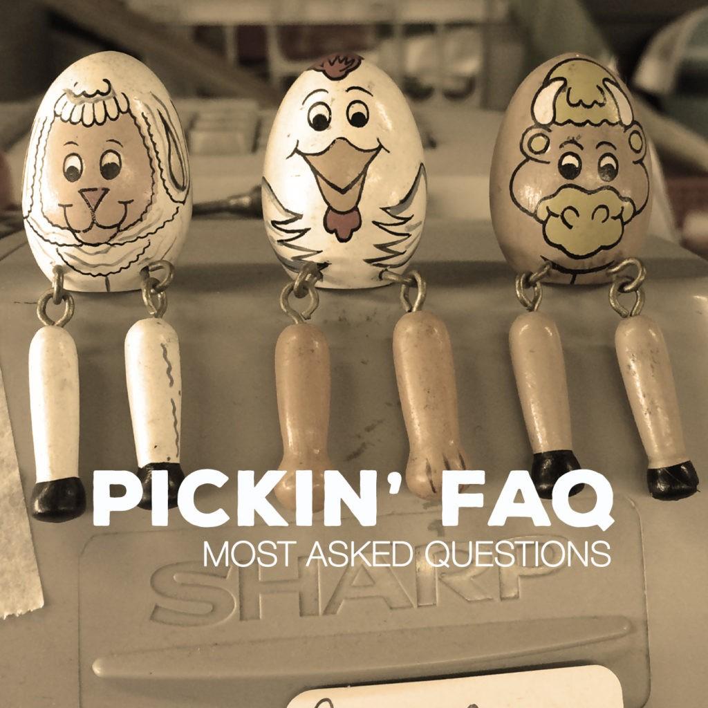 Pickin' FAQ Banner