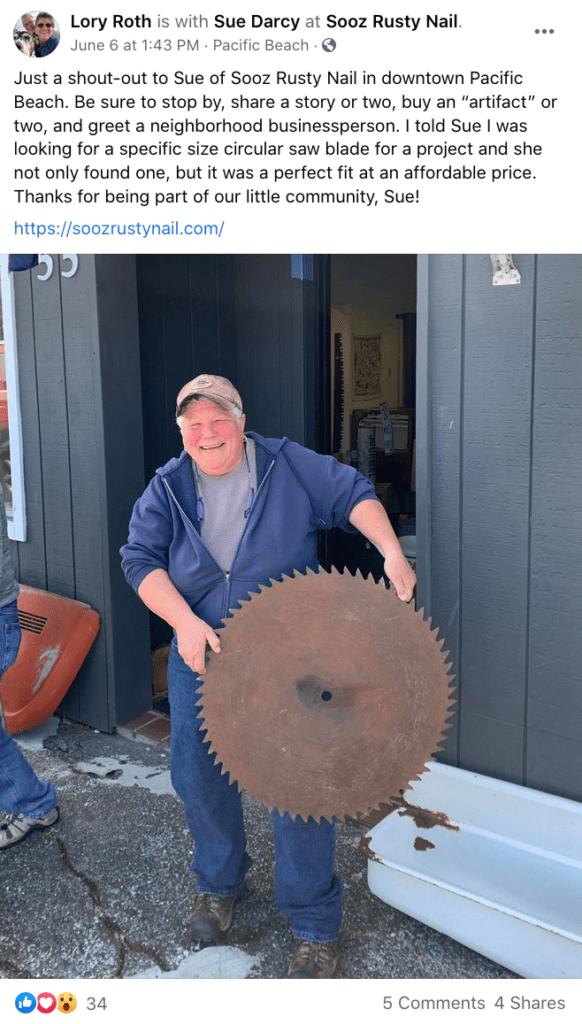 Sooz Rusty Nail happy customer