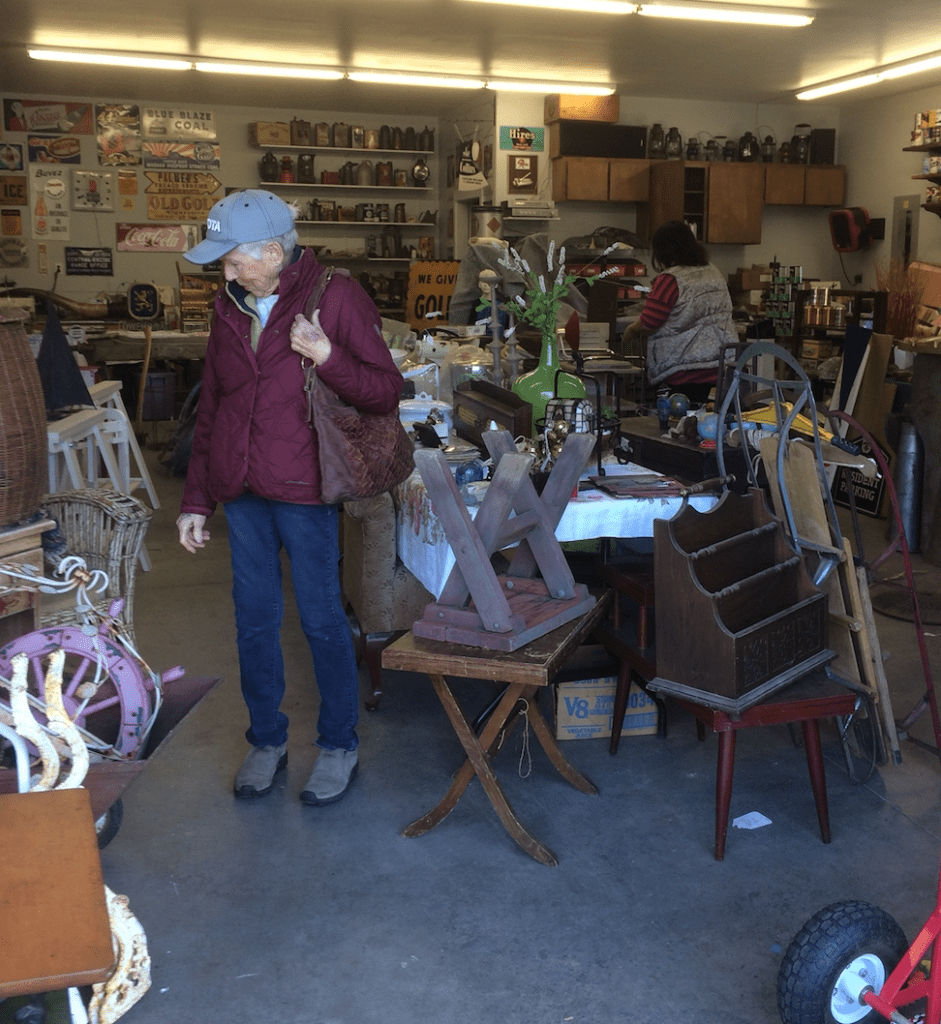 shopping for vintage treasures