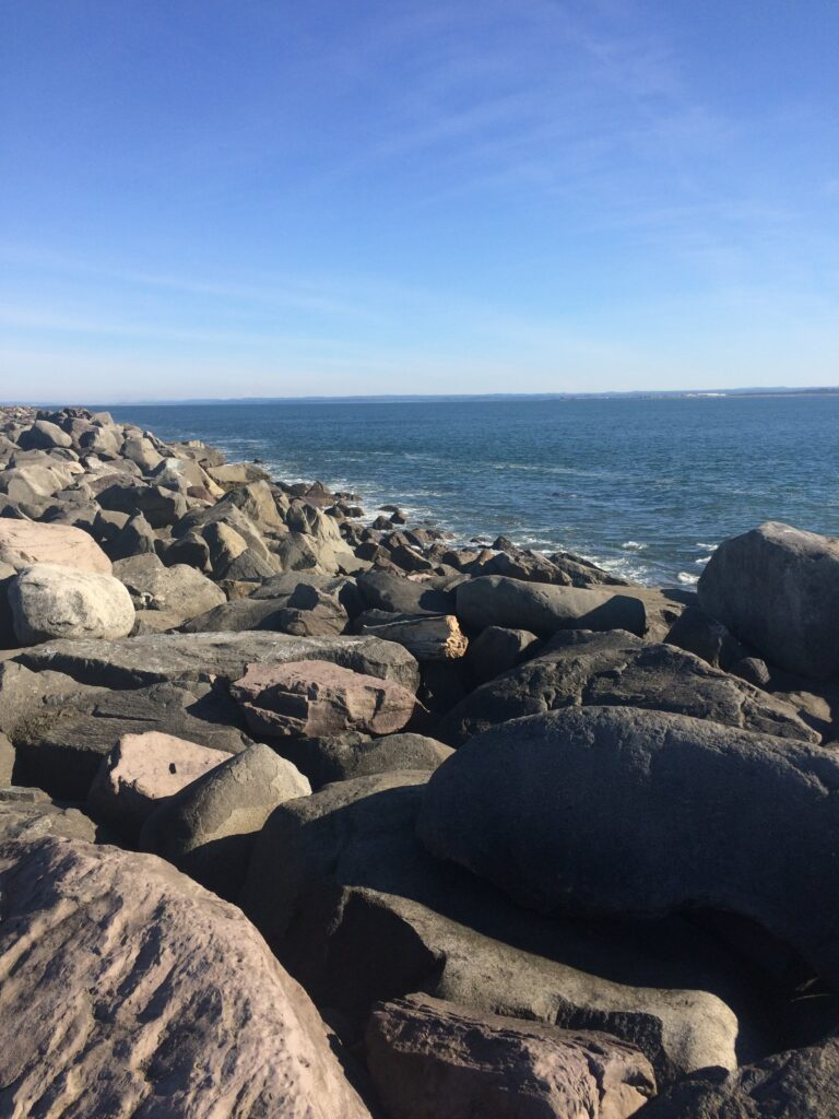 ocean shoreas jetty rocks