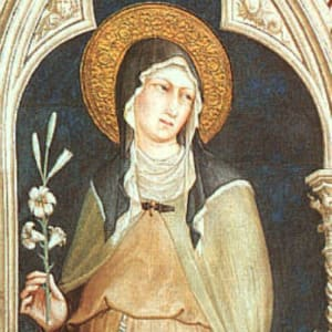 "St. Claire of Assisi (from <a href=""https://achristianpilgrim.wordpress.com/2018/08/11/saint-clare-of-assisi-virgin-religious-memoria-11-august-2018/"" target=""_blank"">A Christian Pilgrimage</a>)"