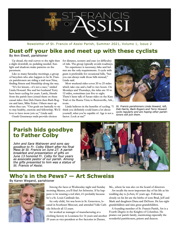 StFrancisNewsletter-Summer-2021-Issue-2