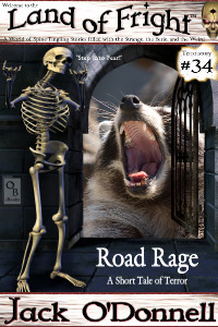 Road Rage by Jack O'Donnell. #34 in the Land of Fright™ series of horror short stories.