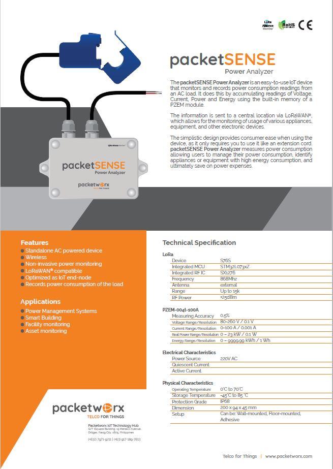 packetSENSE power analyzer