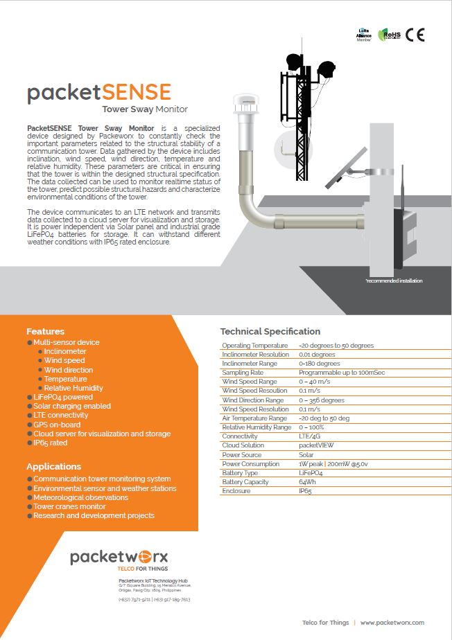 packetSENSE tower sway