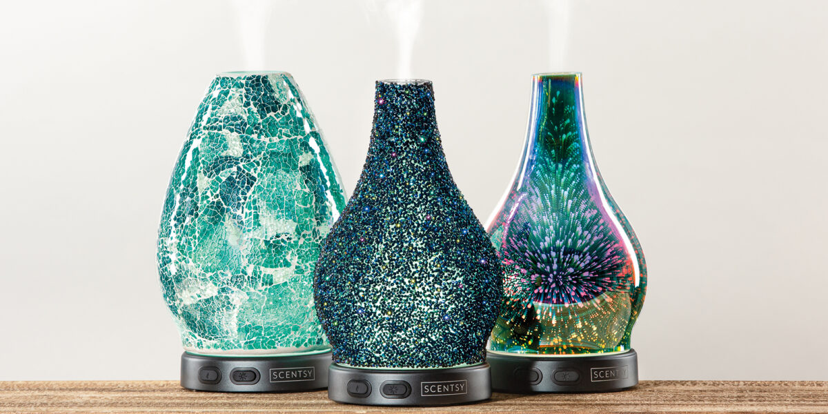 Scentsy Awaken, Stargazer, and Reflect Diffusers