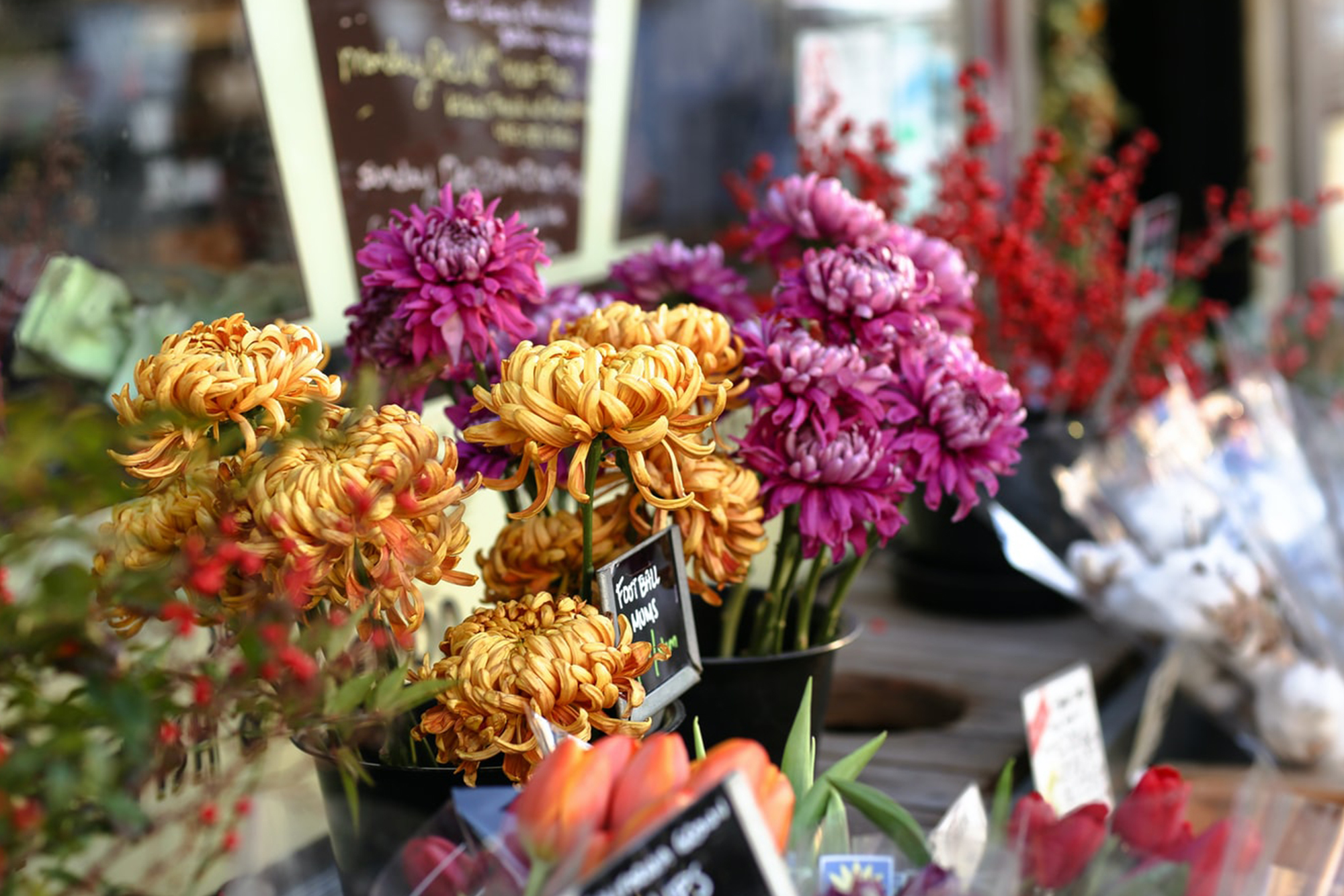 Flower bouquet at a flower store
