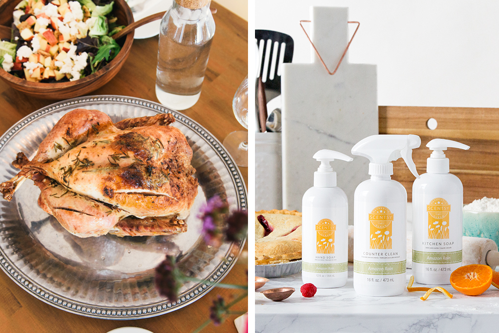 Photo of turkey and Scensty clean products