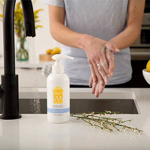 Photo of woman washing her hands with Scentsy Soap