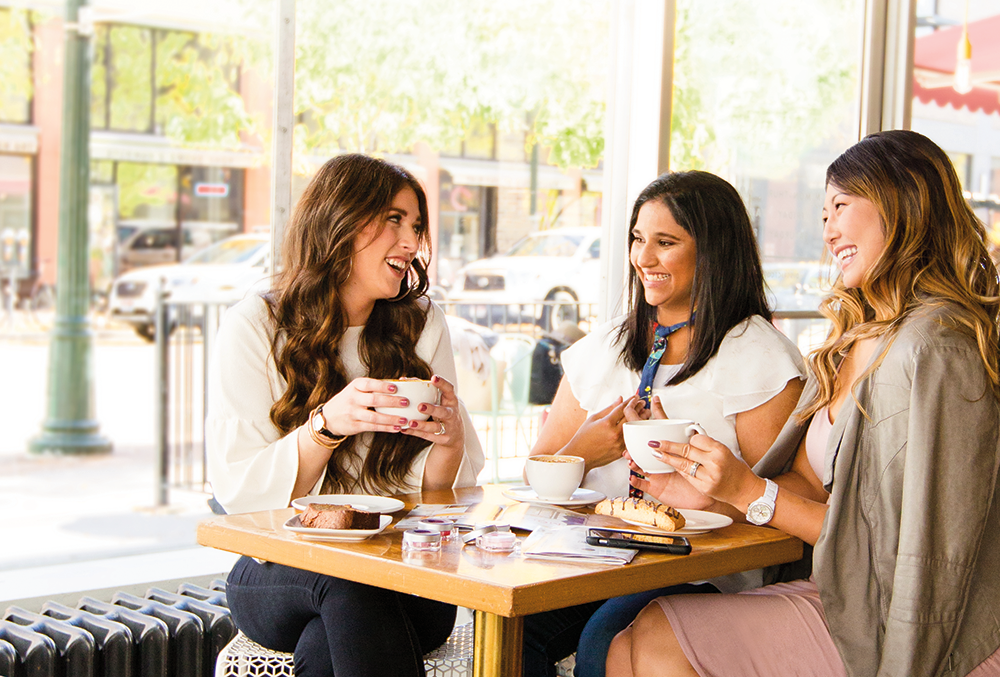 Women at Scentsy party over coffee