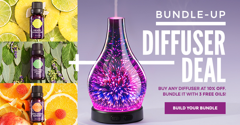photo of Scentsy diffuser bundle with three oils