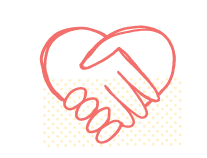 Icon of hands together forming a heart