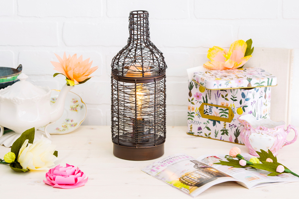 photo of Scentsys vino warmer among spring decor