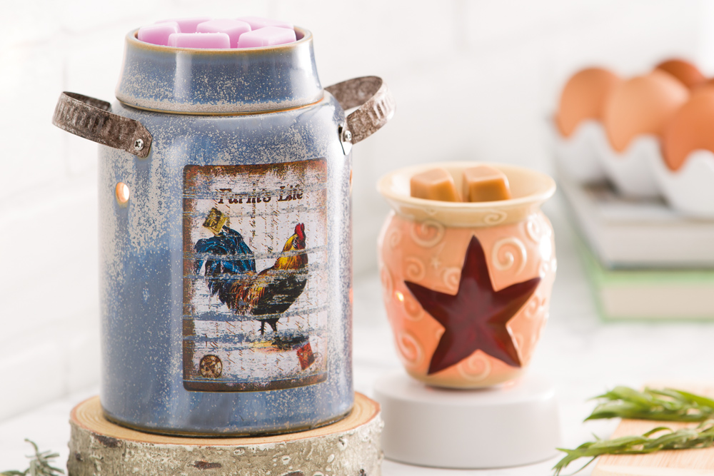 photo of Scentsys vintage crock and lonestar warmers
