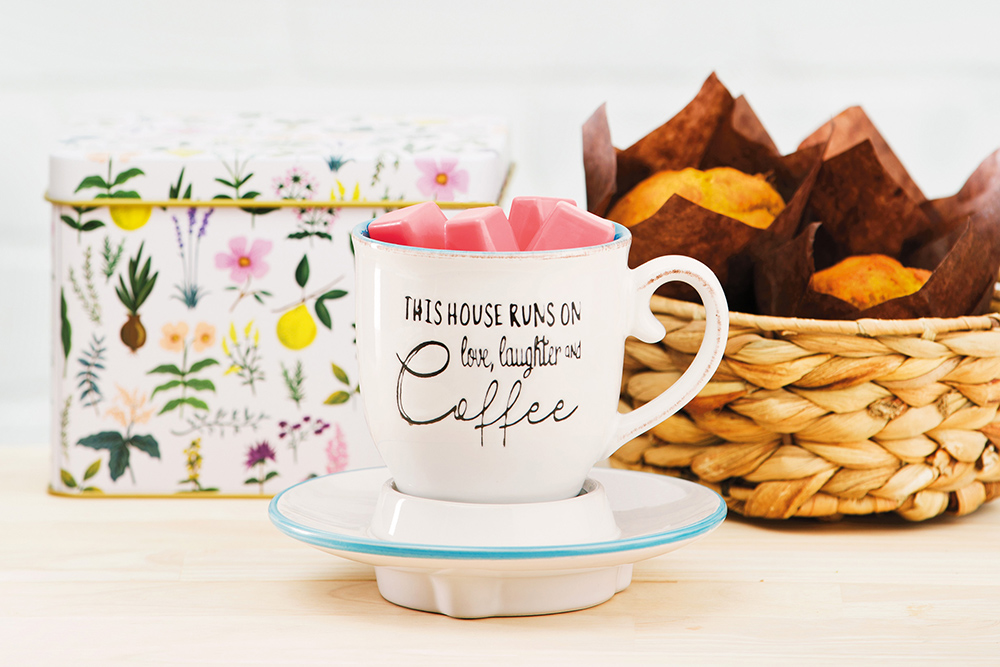 Themed Scentsy Photo featuring Love, Laugh, Coffee Warmer