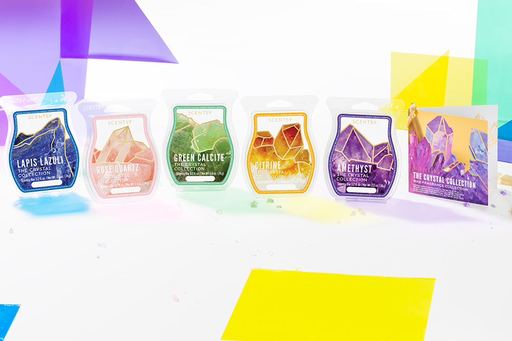 Photo of the Scentsy Crystal Wax Bars lined up