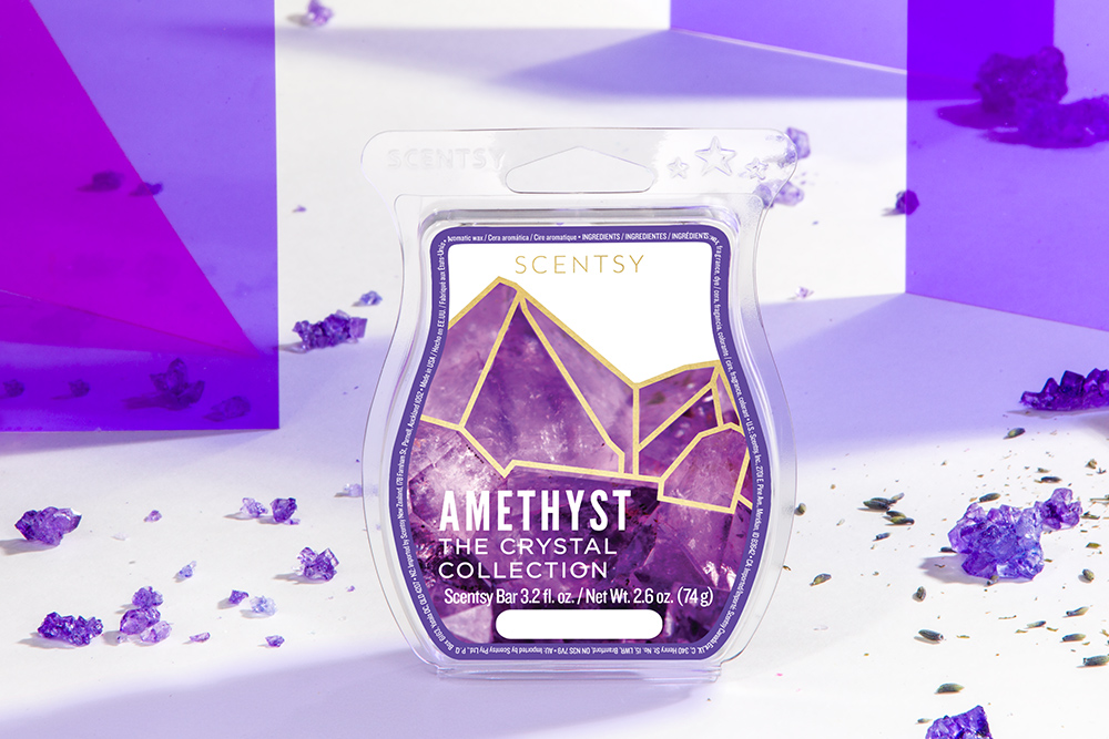 Photo of Amethyst wax bar from Scentsy's Crystal Wax Collection