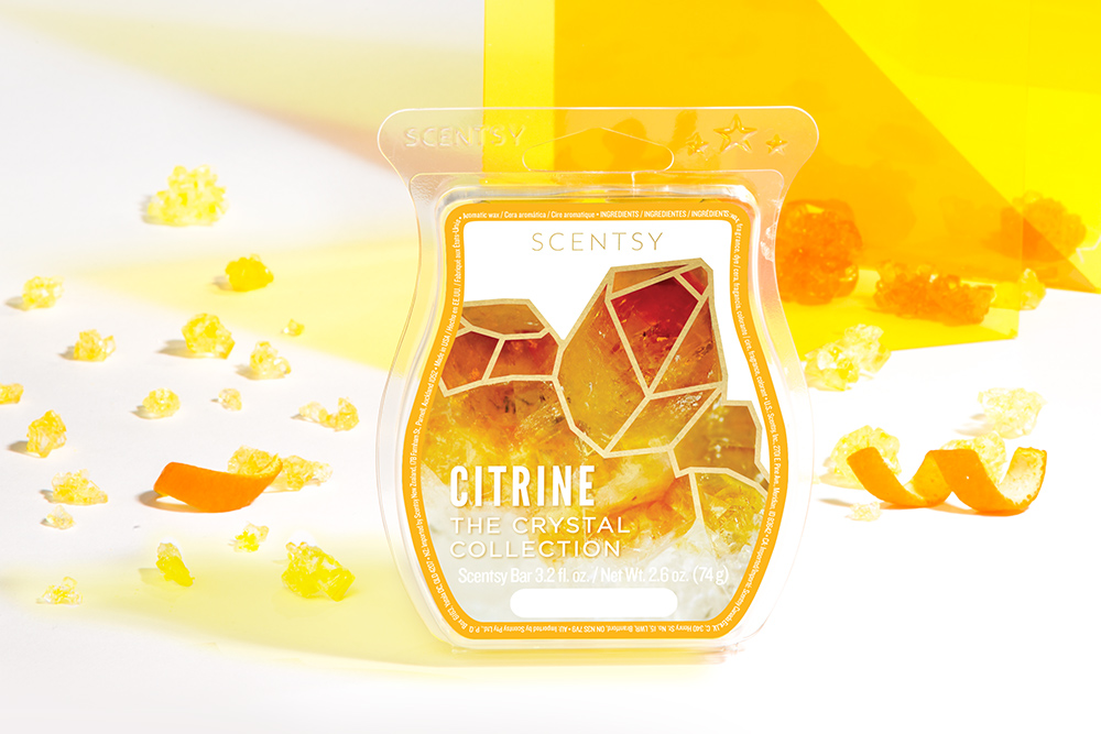 Photo of Citrine wax bar from Scentsy's Crystal Wax Collection