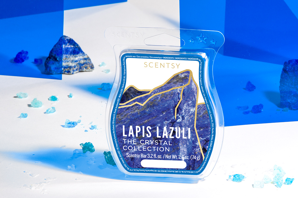 Photo of Lapis Lazuli wax bar from Scentsy's Crystal Wax Collection