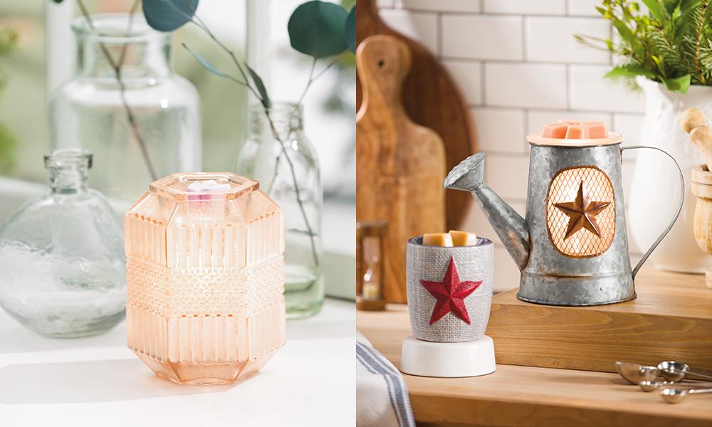 Photo of Elegance Warmer and the Rustic Garden warmer and Burlap Star mini warmer