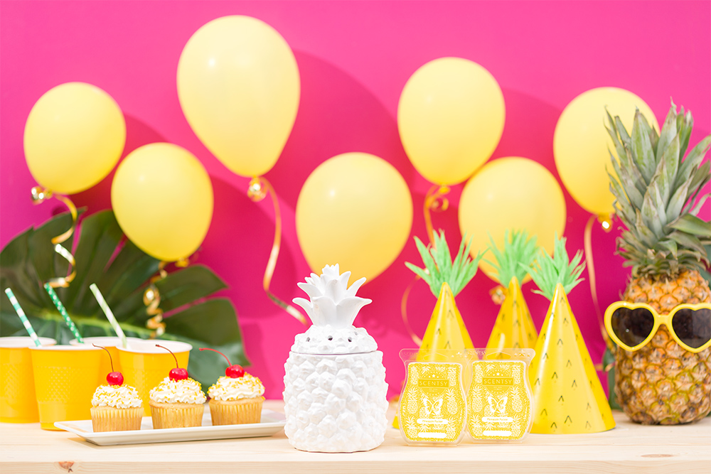 Photo of Pineapple Party featuring Scenty's Southern Hospitality warmer shaped like a Pineapple