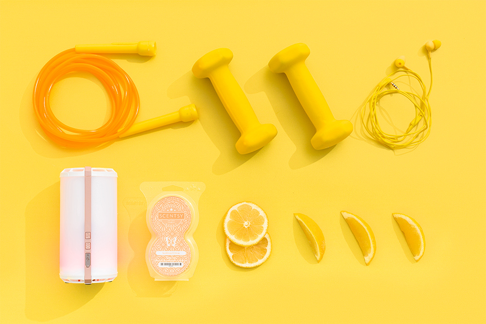 Photo of scentsy go and exercise equipment