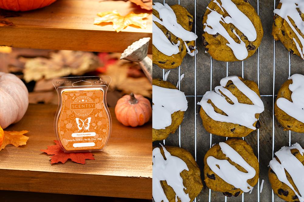 Photo of pumpkin porch fragrance and pumpkin scones