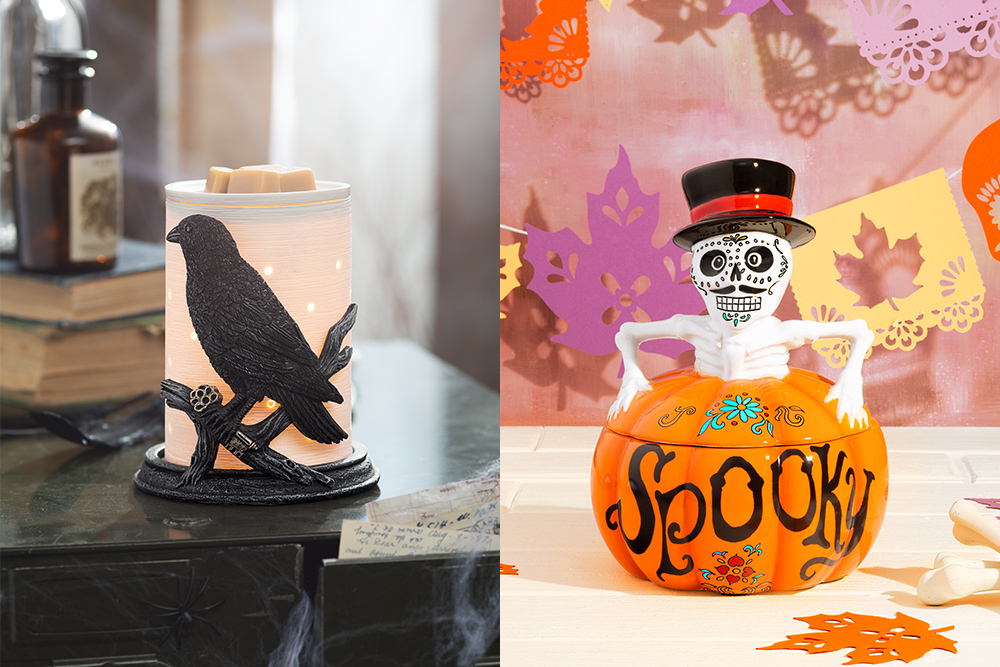 Raven warmer wrap and Spooky Warmer