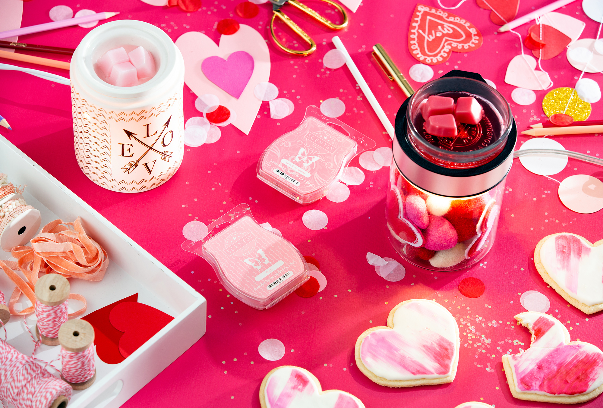 Valentine's Party Scene with Scentsy Products