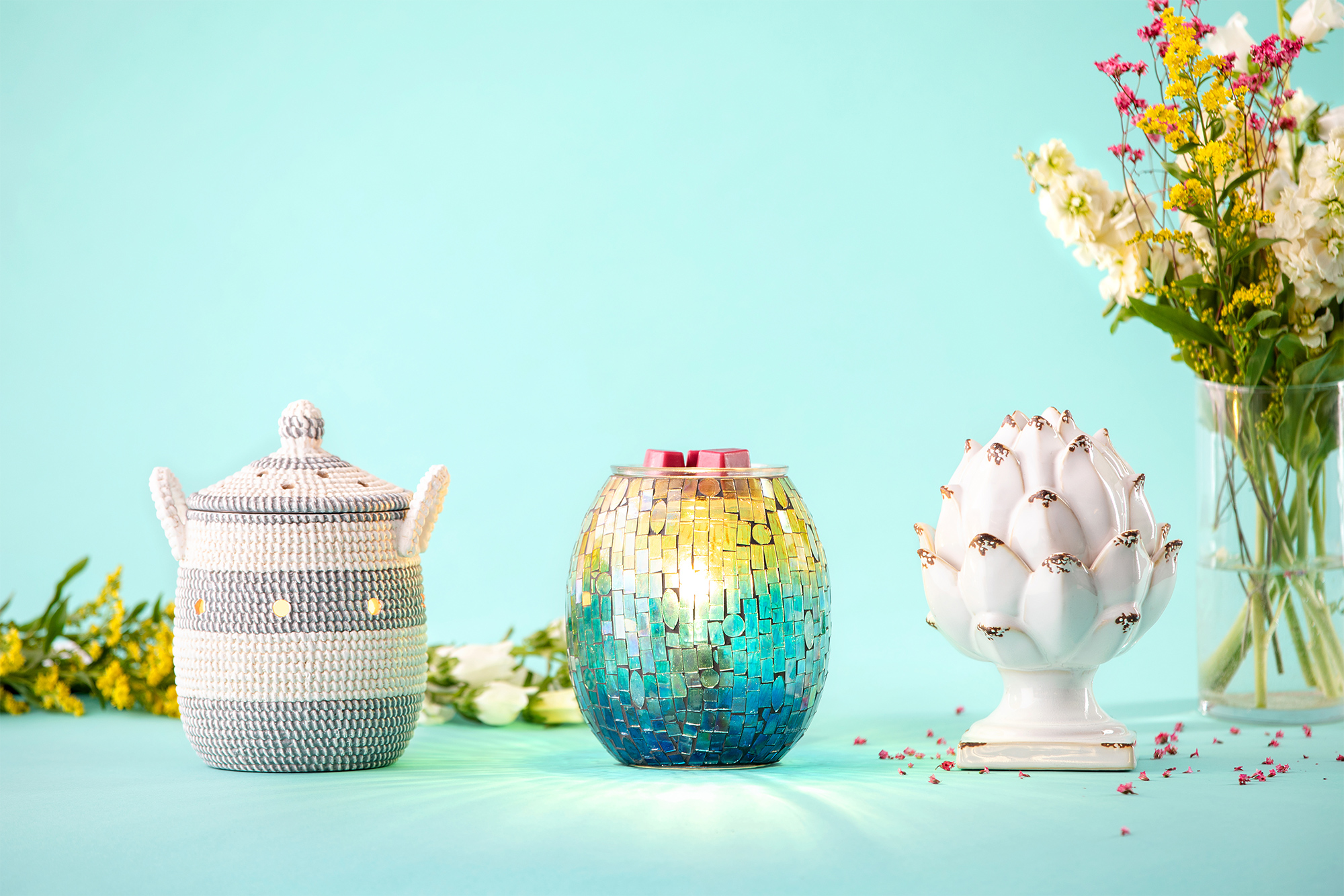 Scentsys Inspired Warmer Designs: Sweetgrass Basket, Peace and Prosperity, Mended Mosaic Mist